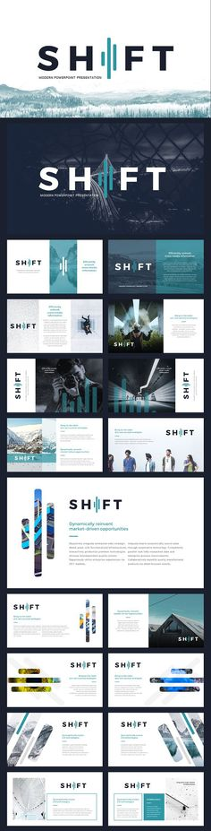 Shift Modern Powerpoint Template by Reshapely on Behance