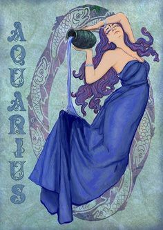 Air sign - except have her be a mermaid and not have the Aquarius font.