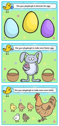 Easter Playdough Mats - Pop over to our site at www.twinkl.co.uk and check out our lovely Easter primary teaching resources! easter, Playdough mats #Easter #Easter_Resources
