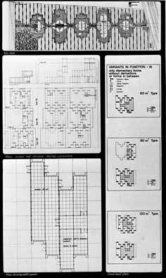HERBERT OHL  COMPETITION DESIGN FOR A COMMUNITY OF 1500 LOW-COST HOUSES IN LIMA, 1968