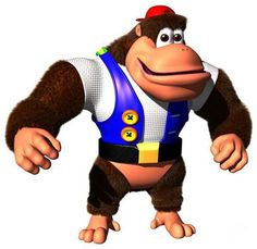 Chunky Kong is one of the Kongs in the Donkey Kong franchise, and he first appears in Donkey Kong Chunky is a big and strong member of the Kong Family but is somewhat meek. He is the cousin of Tiny Kong and Dixie Kong and the older brother of Kiddy Kong. Party Characters, Nintendo Characters, Super Nintendo, Nintendo 64, Nintendo Switch, Mario Party 9, Donkey Kong Country Returns, Donkey Kong 64, Diddy Kong