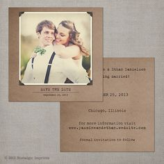 Save the Date Card Save the Date Postcard by NostalgicImprints