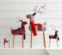 Plaid Reindeer Ornament