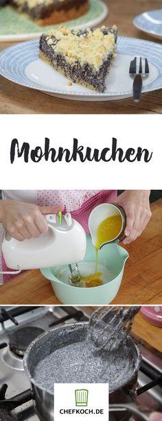 Saftiger Mohnkuchen, leeecker! Im Video auf Chefkoch.de seht ihr die einfache Zubereitung.