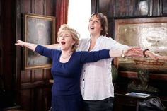 """Near, far, wherever you are..."" Patricia Hodge & Miranda Hart"
