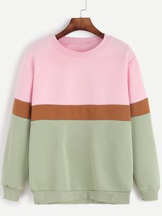 13$  Watch now - http://dibfr.justgood.pw/go.php?t=12560 - Color Block Long Sleeve Sweatshirt 13$