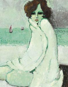 Jean Pierre Cassigneul, Femme au peignoir blanc, 1968