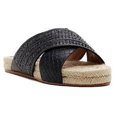 "Black Snake Genivee Espadrille Sandals - NWT •Featured in black snake •Open toe  •Open back  •Cross band upper design  •.75"" heel  •Leather upper  •Espadrille design  •Rubber sole  •Imported Dolce Vita Shoes Espadrilles"