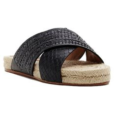 "SALE Black Snake Espadrille Sandals -NWT •Featured in black snake •Open toe  •Open back  •Cross band upper design  •.75"" heel  •Leather upper  •Espadrille design  •Rubber sole  •Imported Dolce Vita Shoes Espadrilles"