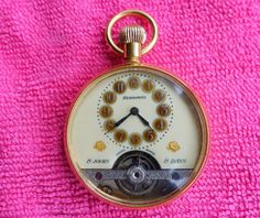 Extra nice Hebdomas gold plated 8 day mens pocket watch in great condition Pendant Watch, Pocket Watches, Conditioner, Plating, Nice, Gold, Men, Ebay, Accessories
