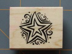 """Little Star in A Star"" Rubber Stamp Cute Design by Reflections 