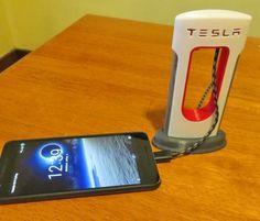 Tesla Phone Charger - Mini Tesla Supercharging Station