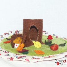 Sünis motyó - mini / needle felted hedgehog