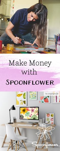 Make Money with Spoonflower - Selling your designs on Spoonflower as fabric, wallpaper, and gift wrap is easy, fun, and profitable!  Turn your drawings into fabric designs in a few easy steps.  Our system repeats your image, so all you need to get started is a drawing or illustration in digital form.  Click to see the easy steps to turn your drawing into fabric, wallpaper, and gift wrap! #makemoney #onlineincome #creativity #creative #design #draw #art #make #diy