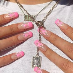 pink nails with glitter accent ; pink nails with rhinestones ; pink nails with glitter Summer Acrylic Nails, Best Acrylic Nails, Summer Nails, Spring Nails, Baby Pink Nails Acrylic, Painted Acrylic Nails, Square Acrylic Nails, Square Nails, Aycrlic Nails