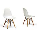 Wood Leg White Accent Chairs (Set of 2) - overstock.com