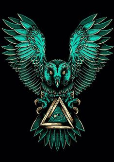 ArtStation - Eye of Providence, Bruna Regina Illuminati Tattoo, Eyes Wallpaper, Owl Wallpaper Iphone, Owl Artwork, Owl Pictures, Alien Art, Dark Art, Phoenix, Wallpaper Quotes