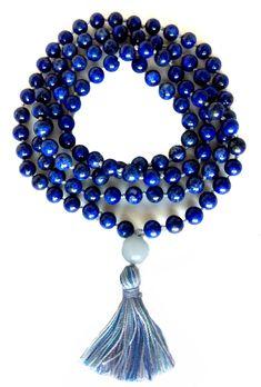Mala Lapis Lazuli Hand Knotted 108 Bead Prayer Mala: Amazon.co.uk: Kitchen & Home