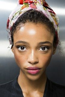 Aya Jones  @ Dolce & Gabbana SS16 Backstage Close Up