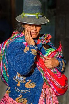 """Cusco Woman 1 (Peru)  - Limited Edition Print"" by Ben Robson Hull. Colour photograph on Paper, Subject: People and portraits, Photorealistic style, From a limited edition of 10, Signed and numbered on the back, This artwork is sold unframed, Size: 42 x 29.7 cm (unframed), 16.54 x 11.69 in (unframed), Materials: 8 colour archival quality pigment inks, 270gsm Platinum Lustre  fine art paper"