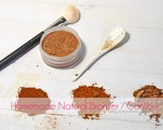 Get that Sun-Kissed glow without breaking the bank.. learn how to make your homemade natural bronzer.  #makeup_tips, #beauty_tricks, #bronzer, #makeup_hacks