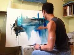 "Abstract Acrylic Painting ""Chaotic Clarity"" Part 1/3 by Randy Alcasid - YouTube"