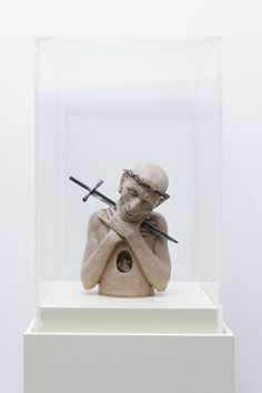 Richard Stipl, Heretic 1, 2011, Clay and found objects, 25 x 17 x 12 cm, Edition 2 of 3, Courtesy Galerie Dukan