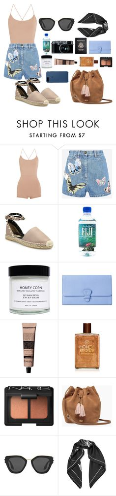 """summer in Malta"" by cristinachioseaua ❤ liked on Polyvore featuring Valentino, Fujifilm, Passport, Honey Corn, Aspinal of London, Aesop, NARS Cosmetics, UGG, Prada and Equipment"