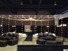 Spotted at Las Vegas Bridal Spectacular: Canopy of lights for an evening outdoor wedding or to add romance to a ballroom.