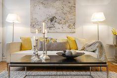 Interior Inspiration; Grey and yellow as seen in Scandinavian homes   LITTLE SCANDINAVIAN