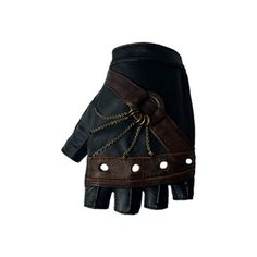 Steam Trunk Nautical Gloves ($130) ❤ liked on Polyvore featuring accessories, gloves, steampunk, black, leather gloves, steampunk gloves, chain gloves, steampunk leather gloves and real leather gloves