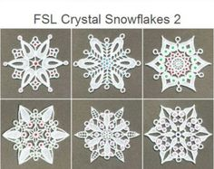 FSL Crystal Snowflakes 2 Free Standing Lace Christmas Machine Embroidery Designs Instant Download 4x4 hoop 10 designs APE1335