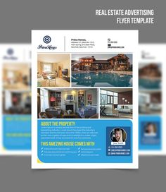 Real Estate Advertising Flyer Just Listed Template  Editable In