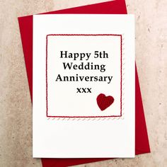 Greeting Card Charming Personalised Wedding Anniversary Card
