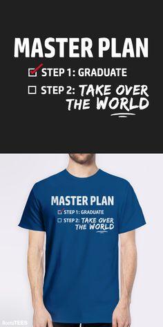 Funny Graduation Gift T-Shirt for High School or College Grads. It makes a cute kindergarten graduation shirt, too. :)