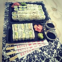 Sushi surprise for lunch at the office #office #lunch #delicious #treat #sushi