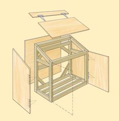 Amazing Shed Plans - cedar garbage container shed - Bing Images Now You Can Build ANY Shed In A Weekend Even If You've Zero Woodworking Experience! Start building amazing sheds the easier way with a collection of shed plans! Garbage Can Shed, Garbage Can Storage, Garden Tool Storage, Storage Shed Plans, Bin Shed, Garbage Containers, Bin Store, Clutter Solutions, Bois Diy