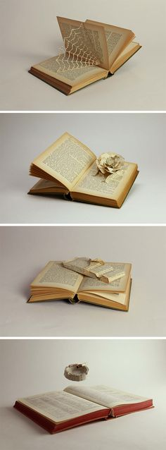 Click for more pics! | The Power of the Paperback by Todd Watts #book #art #booksculpture #sculpture