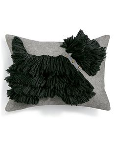 Martha Stewart Collection Stand Out Scottie x Decorative Pillow, Created for Macy's - Decorative & Throw Pillows - Bed & Bath - Macy's Throw Pillows Bed, Diy Pillows, Decorative Throw Pillows, Dog Cushions, Mop Dog, Westies, Soft Fabrics, Sewing Projects, Sewing Patterns