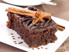 Теплый шоколадный торт