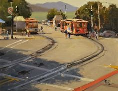 End of Hyde Street, San Francisco by Brian Blood - Oil
