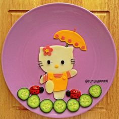 Hello Kitty food art by Anneysen;Butun Evlatlar Senin (@sunumannesi)