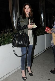 Lily Collins and Zadig & Voltaire Sunny Bag