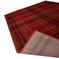 red tartan area rug   Highland Tartan Rug in Red