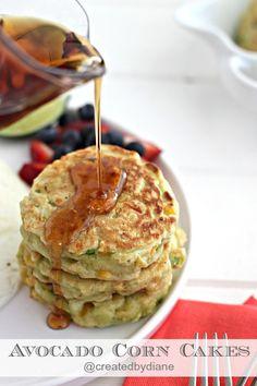 Avocado Corn Cakes   Created by Diane