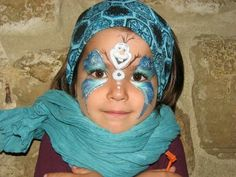 Frozen birthday party, Olaf - face painting