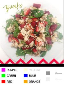 21 Day Fix Recipes, Meal Plans, and ALL THE DETAILS!!!  Chicken Strawberry Spinach Salad