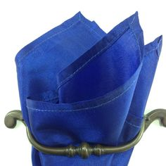 Royal blue pocket square by LeBoutonVert on Etsy, $11.75