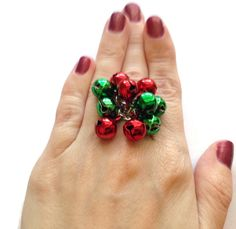A personal favorite from my Etsy shop https://www.etsy.com/listing/244861491/red-and-green-jingle-bell-ring