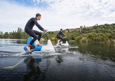 New Zealand company Manta5 has designed the Hydrofoiler XE-1, an electric bike made for riding atop lakes, rivers, or the ocean.